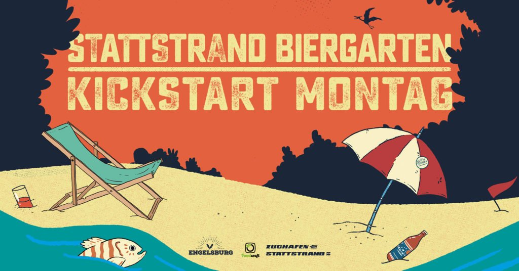 Stattstrand Biergarten Kickstart Montag Headerbild